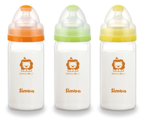 Simba 6 oz Ultra Light Glass Bottle (Wide Neck, 1pc, color vary)