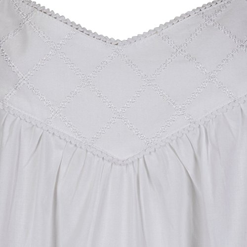 The 1 for U Nancy 100% Cotton Victorian Sleeveless Nightgown 7 Sizes 4