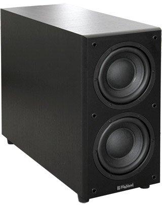 Caisson de grave actif Highland Audio Dord 265 noir Puissance 120W, réponse en fréquence 28 à 150Hz, conception Bass-Reflex et 2 haut-parleurs de 16,5cm de diamètre