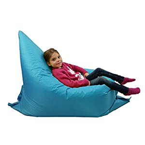 Kids BeanBag Large 6-Way Garden Lounger - GIANT Childrens Bean Bags Outdoor Floor Cushion TEAL AQUA BLUE - 100% Water Resistant by Home And Garden