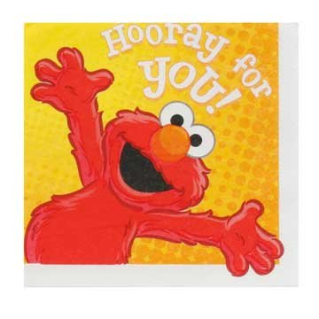 Elmo Lunch Napkins 16ct - 1