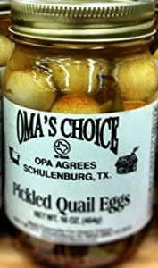 Amazon.com : Oma's Choice Texas Pickled Quail Eggs 16oz
