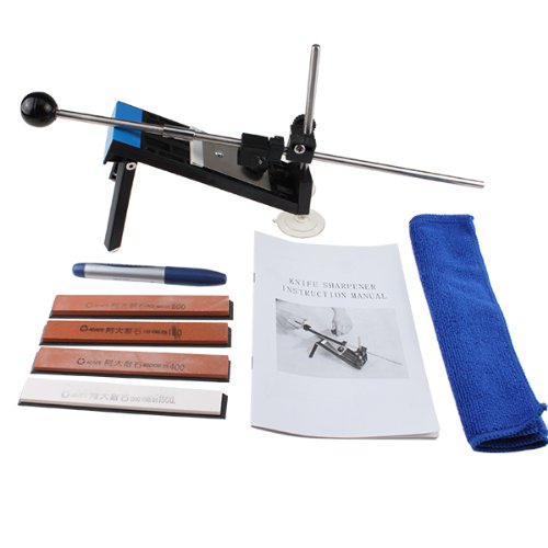 Agptek Quick And Safe Fixed-Angle Kitchen Knife Sharpener Kit