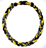 Titanium Germanium Tornado Baseball Necklace &#8211; 20&#8243; Yellow/black