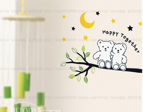 """Happy Together""The Moon Fairy Tales Children Diy Real Sticker front-854548"