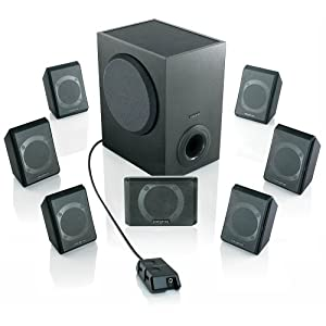 creative inspire p7800 7 1 powered surround sound speaker system. Black Bedroom Furniture Sets. Home Design Ideas