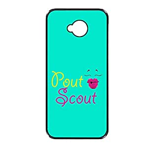 Vibhar printed case back cover for Sony Xperia C PoutScout