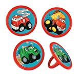 12 pc Chuck the Truck Cupcake Rings Party Favors