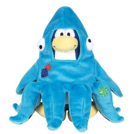 Buy Low Price Jakks Pacific Disney Club Penguin 6.5 Inch Series 11 Plush Figure Squidzoid Version 2 Includes Coin with Code! (B004IFRMKO)