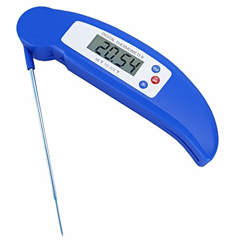 Instant Read Cooking Thermometer Ukelove Digital Meat Bread Oil Accurate Cook Timer Thermometrers BBQ Food Probe Best Auto sleep For Kitchen Barbecue or Smoker Cooking Baking Bread Brewing Beer Wine, Steak & Turkey