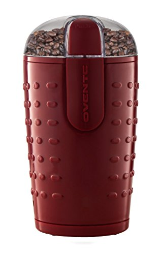 Ovente CG225M Electric Grinder with Stainless Steel Blades for Coffee Beans, Spices, Nuts, Grains, Maroon