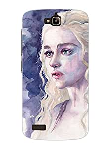 Game Of Thrones Daenerys Targeryan - Hard Back Case Cover for Huawei Honar 4x - Superior Matte Finish - HD Printed Cases and Covers