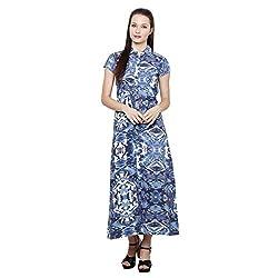 LEBE Women's Blue A-line Dress