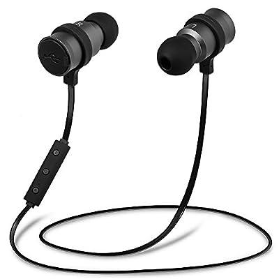 MAXBO® New Version/Upgraded Sports Wireless Stereo Bluetooth 4.0 Headphones Earbuds Headset Earphones-Black