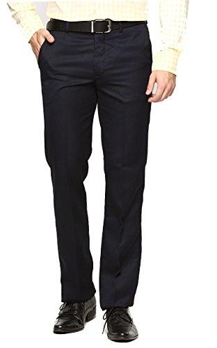AD & AV Men's Formal Trouser SAINEAVY32_Dark Blue_32