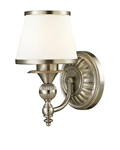 Artistic Lighting Smithfield 1-Light LED Sconce, Brushed Nickel
