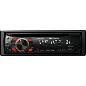 Pioneer DEH-1300MP CD Receiver with MP3/WMA Playback and Remote Control