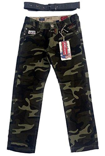 JIENIS-Denim -  Jeans  - ragazzo dunkel Grün Camouflage 12 anni