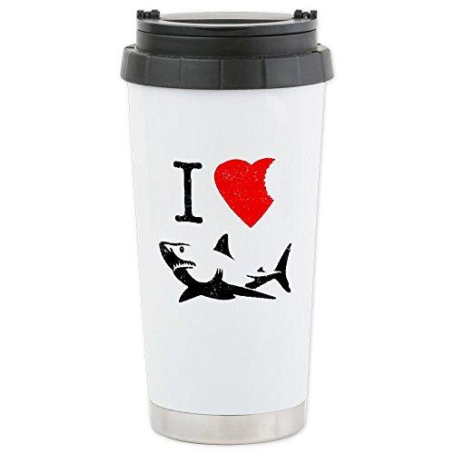 Cafepress I Love Sharks Ceramic Travel Mug - Standard Multi-Color