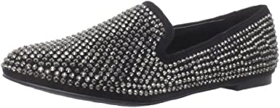 Steve Madden Women's Conncord Flat,Black Multi,5.5 M US