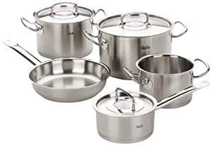 fissler profi 5 piece cookware set kitchen home. Black Bedroom Furniture Sets. Home Design Ideas
