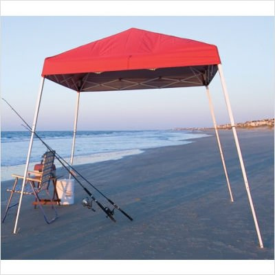 8' x 8' Slant Leg Popup Canopy with Black Bag Cover Color: Green