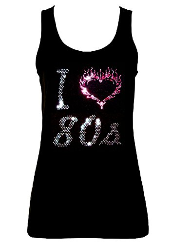 I Love 80s Crystal Rhinestone Letters - 8 to 16