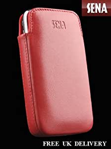 Sena Cases Elega Leather Protective Pouch for iPhone 4 and iPhone 4S - Retail Packaging - Red