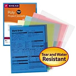 Smead Poly Translucent Project File Jacket, Letter Size, Assorted Colors, 5 per Pack (85750) (2, Each)