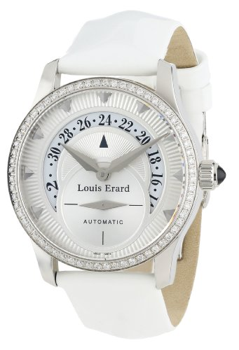 Louis Erard Women's 92600SE01.BDV12 Emotion Automatic White Diamond Date Watch