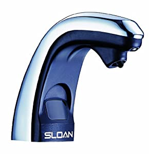 Sloan Valve ESD-250 Battery Powered Sensor Activated Electronic Soap Dispenser, Chrome/Black