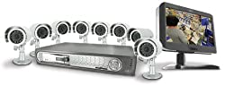 SVAT CLEARVU3 Web Ready 16 Channel Deluxe DVR Security System with 8.5&quot; LCD Screen &amp; 8 Indoor/Outdoor Hi-Res Night Vision Surveillance Cameras