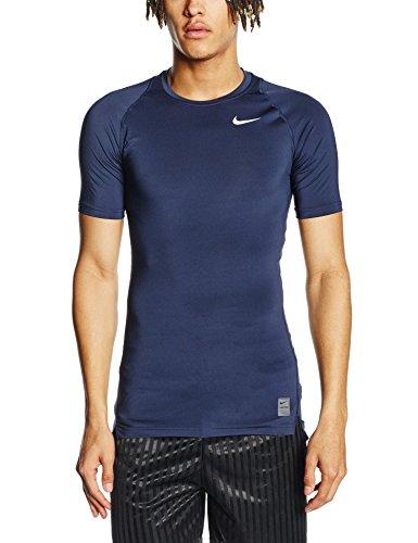 Nike - Maglietta di compressione a maniche corte Uomo - Blu ( Obsidian/Dark Grey) - XL