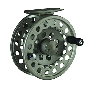 Okuma SLV- 5/6 Diecast Aluminum Fly Reel, Light Silver
