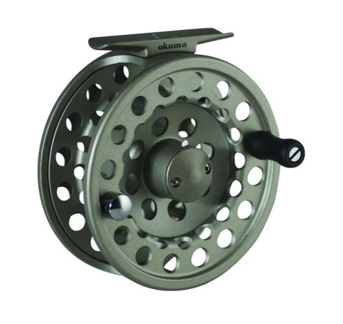 Okuma SLV Diecast Aluminum Fly Reel, 150/30, Light Silver