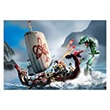 Lego Stories and Action Vikings: Viking Ship Challenges the Midgard Serpent (7018)