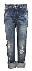 Vitamins Boys' Jeans (01B-625-32-Dx Tint Wash_Dark Blue_8 - 9 Years)