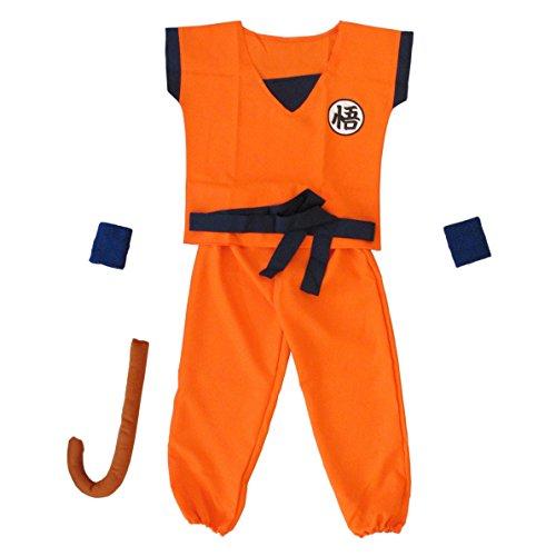 Anime Dragon Ball Son Goku bambini per costume cosplay costume tuta Carnevale Orange Blau M, L