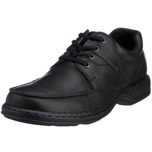 hush-puppies-zapatos-de-cordones-de-cuero-hombre-negro-black-leather-42