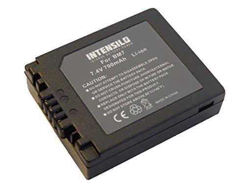 INTENSILO Li-Ion Akku 700mAh (7.4V) für Kamera Camcorder Video Panasonic Lumix DMC-FZ10, DMC-FZ15, DMC-FZ20 wie DMW-BM7, CGA-S001HH, CGR-S002.
