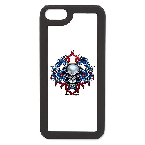 Iphone 5 Switch Case Black Skull With Dragons