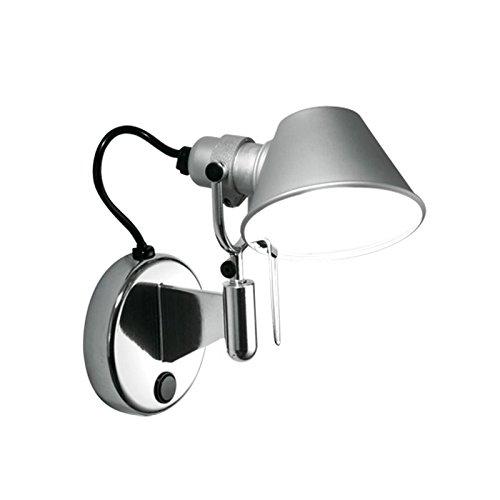 Tolomeo Micro Faretto, Wandstrahler ohne Schalter, Aluminium