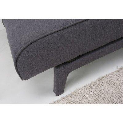 Leader Lifestyle Johansson Fabric Sofa Bed, Dark Grey