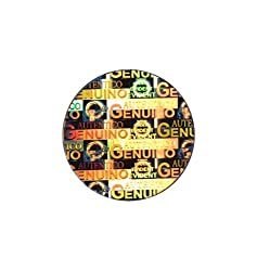 Ospac Hologram Stickers Genuino Authentico, 25 Mm, Pack of 2500