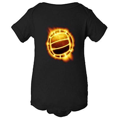 Volleyball Fire Glow One Piece Baby Bodysuit