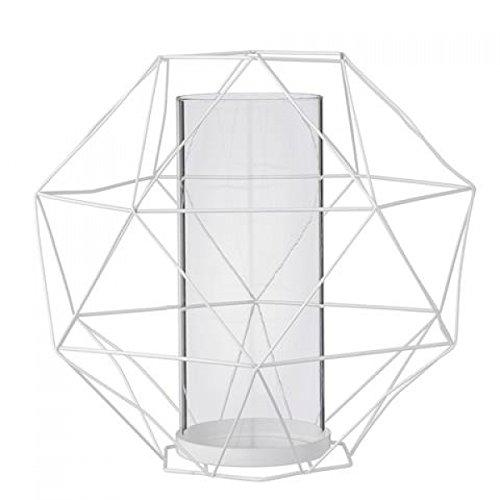 Bloomingville - Laterne Metall / Glas weiß