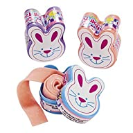 Fun Express Roll Tape Gum with Easter Bunny Design Easter Candy and Chocolate Toy