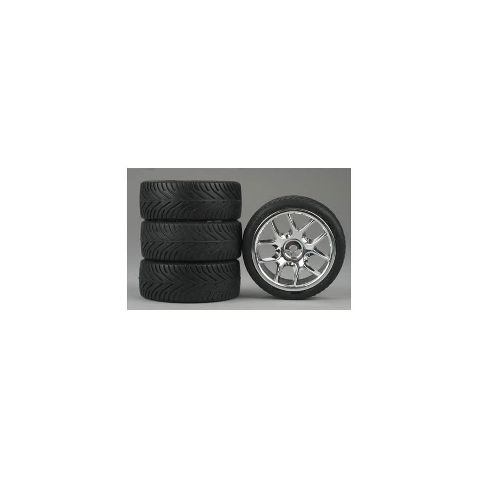 Dynamite 10 Spoke Chrome Wheel, Radial (4)