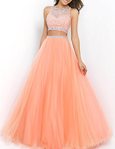 SeasonMall-Womens-Prom-Dress-Two-Pieces-Bateau-Beaded-Bodice-Tulle-Dresses