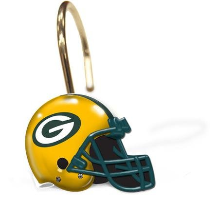NFL Green Bay Packers Decorative Bath Collection 12-Pack Shower Hooks